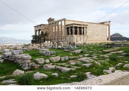 Erechtheum, Acropolis Of Athens In Greece