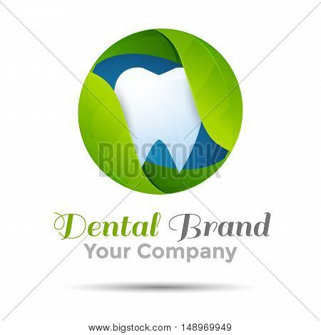 Vector dental logo or symbol design illustration. Template for your business company. Creative abstract colorful concept.