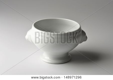 Single Small white porcelain cup for sauce