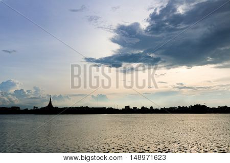 Silhouette temple thai name