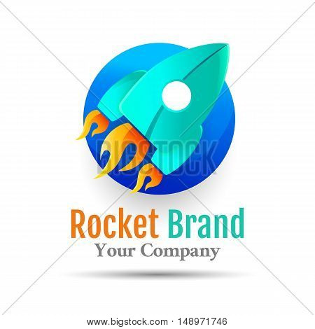 Abstract Rocket web Icons Vector logo design illustration. Template for your business company. Creative abstract colorful concept.