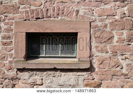 Window on an old building in Altenhausen