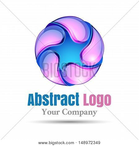 Abstract shape Vector logo design illustration. Template for your business company. Creative colorful concept.
