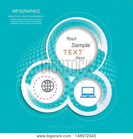 Abstract infographic design template vector illustration turquoise version