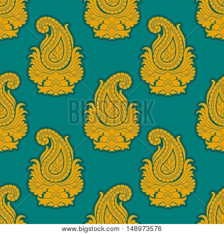 Seamless eastern style pattern. Paisley repeating ornament