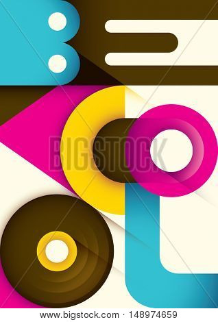 Modern style typographic poster. Vector illustration.