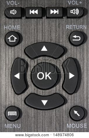 Detail of the remote control with buttons