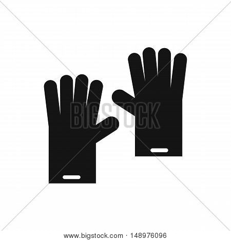 Rubber gloves icon in simple style on a white background vector illustration