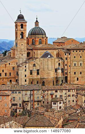 Urban scenic of Urbino Italy - HDR