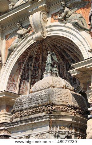 Organ Fountain in Villa Este of Tivoli, Italy
