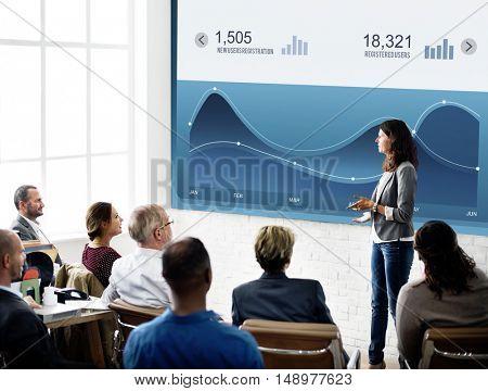 Graph Wave Percentage Business Concept
