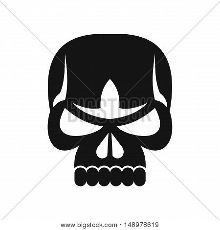 Human skull icon in simple style on a white background vector illustration