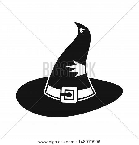 Witch hat icon in simple style on a white background vector illustration