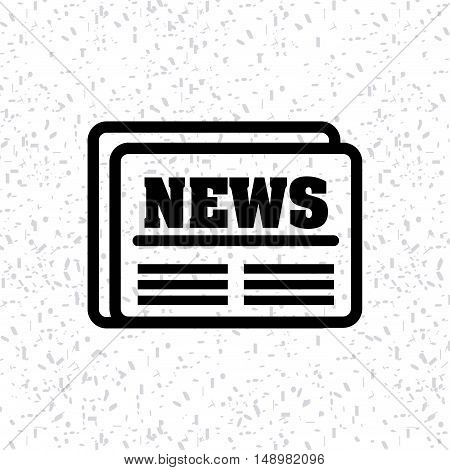 newspaper classic isolated icon vector illustration design