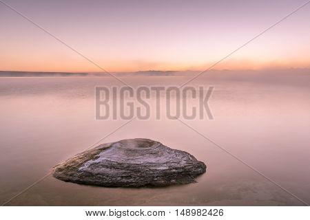 Twilight over Yellowstone Lake and the Fishing Hole
