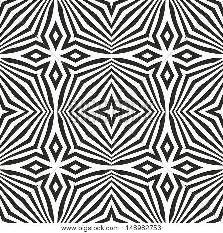 Optical Art Abstract Seamless Pattern.