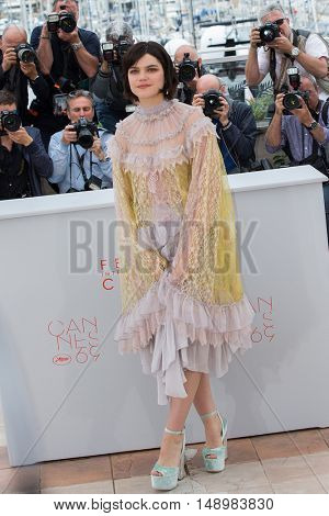 Soko  at the photocall for The Dancer (La Danseuse) at the 69th Festival de Cannes. May 13, 2016  Cannes, France