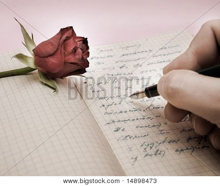 Write A Love Letter With A Rose