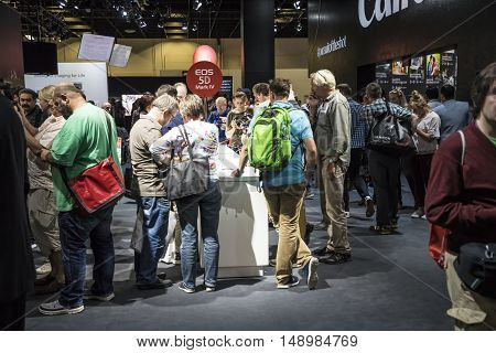 People Enjoy Looking For Newest Photographic Equipment At The Photokina