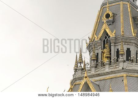 Beautiful Marble Church/temple Wat Sothorn, Chachoengsao Thailand