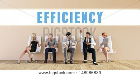 Business Efficiency Being Discussed in a Group Meeting 3D Illustration Render