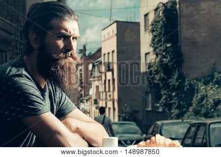 Handsome Man In Cafe