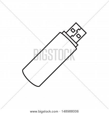 Line icon usb flash drive. Vector illustration.