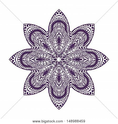 Mandala. Vintage decorative element. Oriental pattern vector illustration
