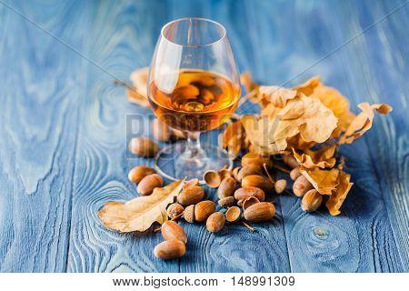 Whiskey Aged In Oak Barrels