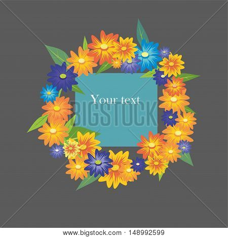 Summer wreath with the card for your text