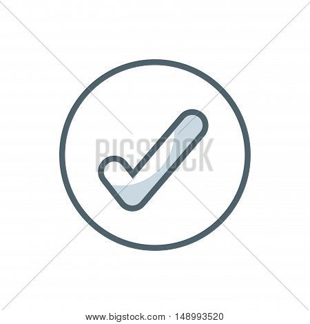 check approved flat icon vector illustration design