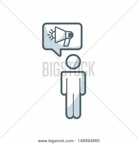 speech bubble with megaphone icon vector illustration design