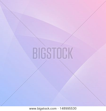 Colorful smooth light lines vector background. Abstract wave background color serenity and rose quartz.