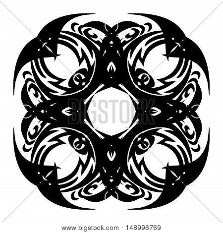 Black & White Abstract Mandala