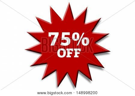 seventy percent off, isolated on white background.