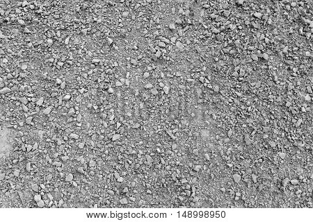 Grey gravel as background or texture, close-up