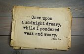 TOP-30. Aphorism by Edgar Allan Poe (1809 - 1849) - American writer, poet, essayist, literary critic poster