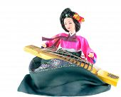 picture of hanbok  - Beautiful Korean doll dressed in traditional costume  - JPG