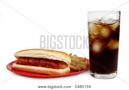Hot-Dog, Fries And Cola
