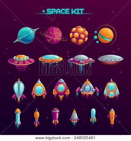 Cartoon Space War Concept Alien