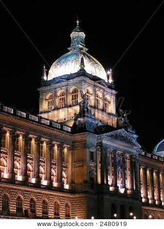 Czech National Museum At Night
