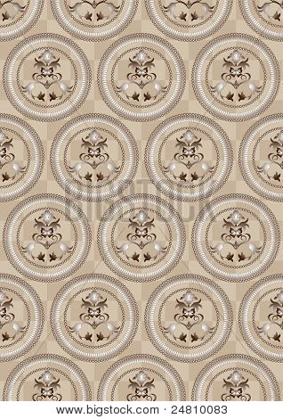 Circles on a beige background of the cells.Wallpaper.
