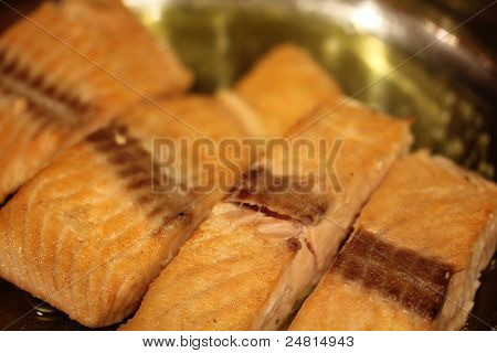 Pan Searing Salmon III