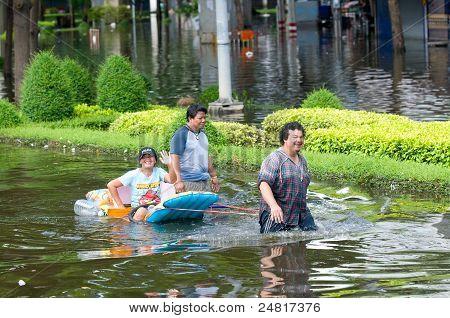 Monsoon Flooding In Bangkok, October 2011