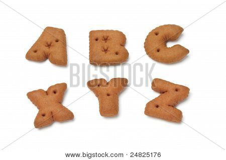 Abc Xyz Alphabet Chocolate Cookies