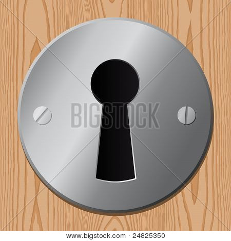 keyhole on wooden door