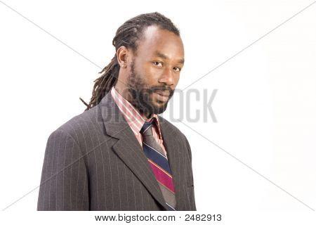 Black Model In Pose