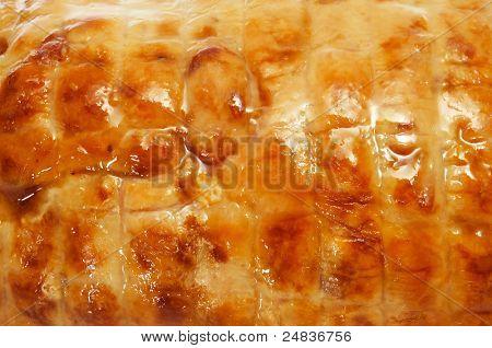 closeup of a piece of roastbeef