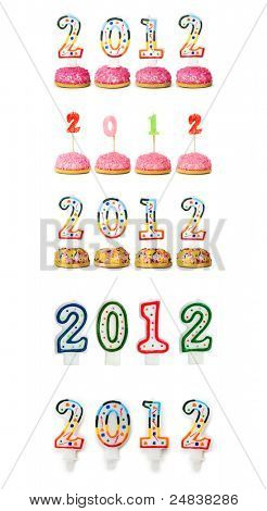 2012 made with cake candles