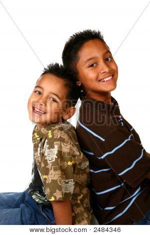 Two Hispanic Young Boys